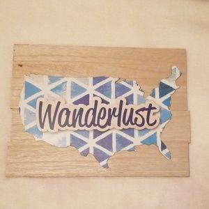 New Wanderlust Wall Plaque